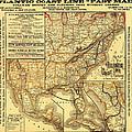 Atlantic Coast Line Railway Map 1885 by Mountain Dreams