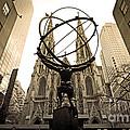 Atlas At Rockefeller Center Back Side by Davids Digits