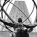 Atlas In Rockefeller Center by Underwood Archives