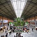 Atocha Railway Station Interior In Madrid by Artur Bogacki
