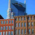 At&t Building And Historic Red Brick by Panoramic Images