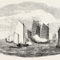Attack On A Chinese Piratical Fleet By The Boats Of H by Chinese School