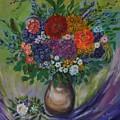 Atumn Flowers by Tzvetanka Apostolova