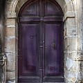 Aubergine Doorway Paris by Evie Carrier