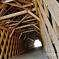 Auchumpkee Creek Covered Bridge Inside View by Robert Ulmer