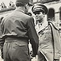 Audie Murphy Shaking Hands With French by Everett