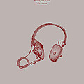Audio Headphone Patent 1963 by Mountain Dreams