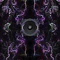 Audio Purple Neon by Steve Ball