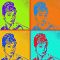 Audrey Hepburn 20130330v2 Four by Wingsdomain Art and Photography