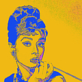 Audrey Hepburn 20130330v2 Square by Wingsdomain Art and Photography