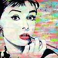Audrey Hepburn Art Breakfast At Tiffany's by Bob Baker