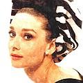 Audrey Hepburn In Watercolor by Gianfranco Weiss