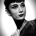Audrey Hepburn - Black And White by Doc Braham