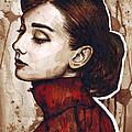 Audrey Hepburn by Olga Shvartsur