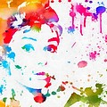 Audrey Hepburn Paint Splatter by Dan Sproul