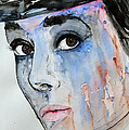 Audrey Hepburn - Painting by Ismeta Gruenwald
