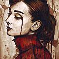 Audrey Hepburn - Quiet Sadness by Olga Shvartsur