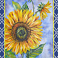 Audrey's Sunflower With Boarder by Jean Plout