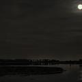 August Full Moon Over Lake Wausau by Dale Kauzlaric
