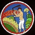 August - Threshing Wheat by Stephanie Moore