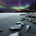 Aurora Borealis Over Sandvannet Lake by Arild Heitmann