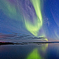 Aurora In Green And Violet by Frank Olsen