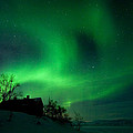 Aurora Over Lake Tornetrask by Max Waugh