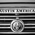 Austin America Grille Emblem -0304bw by Jill Reger