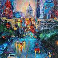 Austin City Congress Avenue Painting Downtown by Svetlana Novikova