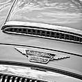 Austin-healey 3000 Mk II Hood Emblem -0567bw by Jill Reger