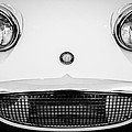 Austin Healey Sprite - Bugeyed - Grille Emblem -0046bw by Jill Reger