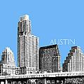 Austin Skyline - Sky Blue by DB Artist