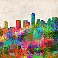 Austin Texas Abstract Panorama 4 by Bekim Art