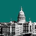Austin Texas Capital - Sea Green by DB Artist