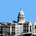 Austin Texas Capital - Sky Blue by DB Artist