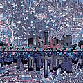 Austin Texas Skyline 3 by Bekim Art