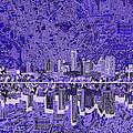 Austin Texas Skyline 4 by Bekim Art
