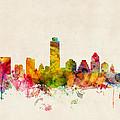 Austin Texas Skyline by Michael Tompsett