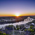 Austin Texas Sunset Hour by Kristina Deane