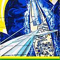 Australia II Americas Cup Yacht Sailboat  by Jim Pruitt