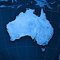 Australia Topographic Map by Frank Ramspott