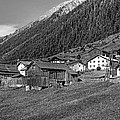 Austrian Village Monochrome by Steve Harrington