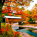 Authentic Covered Bridge Vt by Bob and Nadine Johnston
