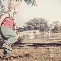 Authentic Faded Brown Vintage Skater Child by Jorgo Photography - Wall Art Gallery