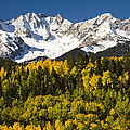 Autumn And Snow Covered Peaks North by Tom Vezo