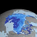 Autumn Arctic Sea Ice Thickness by Nasa/gsfc-svs/science Photo Library