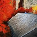 Autumn At Chicago Millennium Park Bp Bridge Mixed Media 03 by Thomas Woolworth