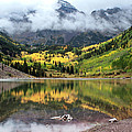 Autumn At Maroon Bells In Colorado by Julie Magers Soulen
