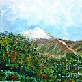 Autumn At The Foot Of Mount Elbrus by Zaira Dzhaubaeva