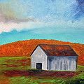 Autumn Barn In Color by Roger Potts